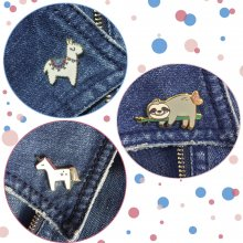 Ansteck-Pin-Set 'Animal Party'