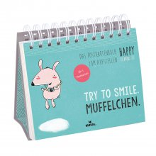 Postkartenbuch 'Happy me – Try to smile'