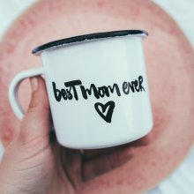 Emaille Becher 'best mom ever'