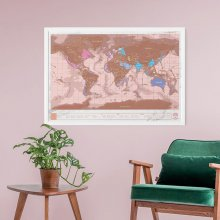 Weltkarte 'Scratch Map' roségold