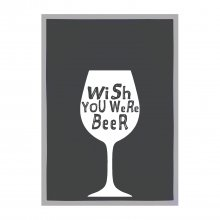 Geschirrtuch 'Wish you were beer'