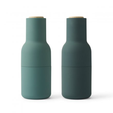 Pfeffer- & Salzmühle Bottle Grinder-Set small dark green