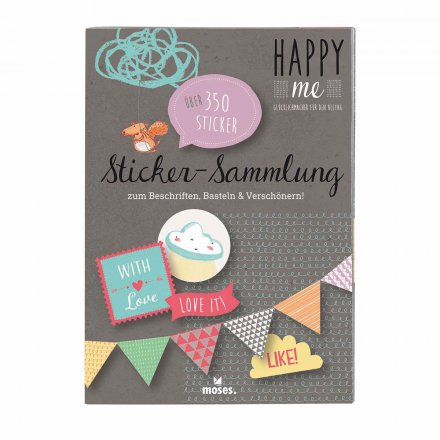 Stickersammlung 'Happy me'
