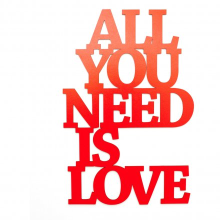 Dekoschriftzug All you need is love rot