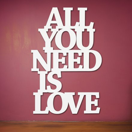Dekoschriftzug 'All you need is love'