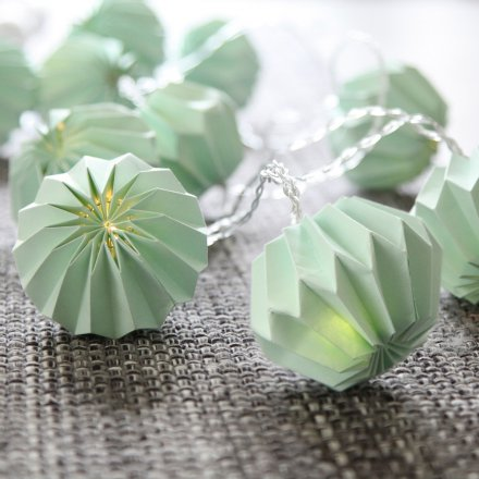 LED-Lichterkette Paper Flower mint