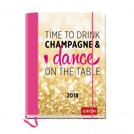 Buchkalender 2018 'Time to drink champagne...'