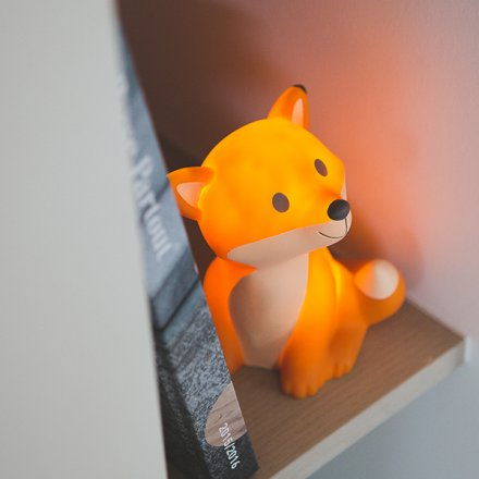 LED-Leuchte im Fuchs-Look orange
