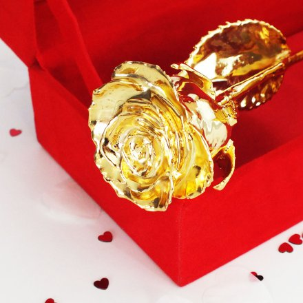Goldene Rose In Edler Box