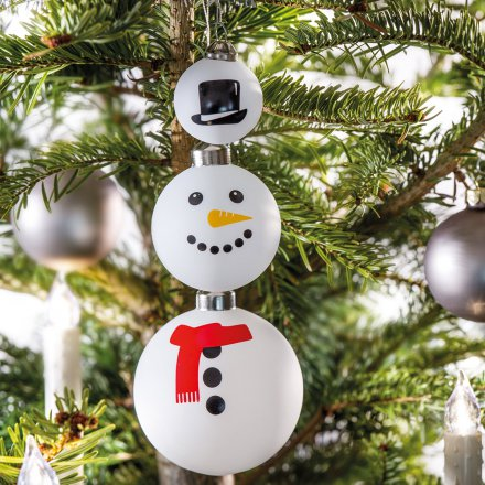 Christbaumkugeln 'Frosty', 3er-Set