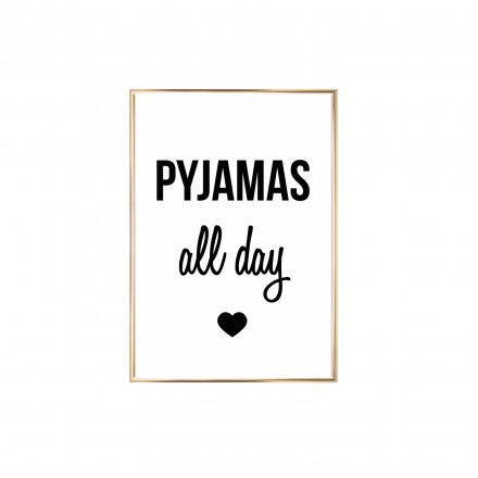 Gerahmter Kunstdruck 'Pyjamas all Day'