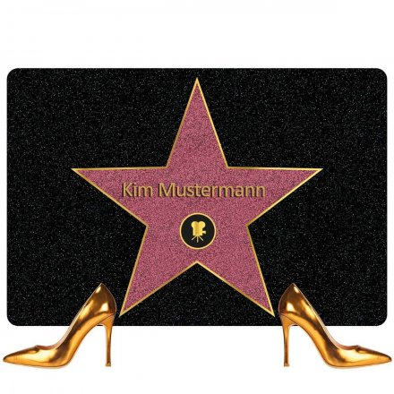 Fußmatte Walk of Fame mit Namen