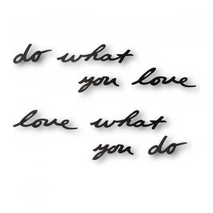 Wanddekoration Mantra 'do what you love'