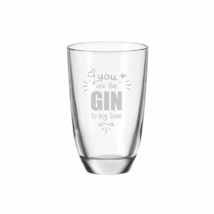 GIN-Glas mit Gravur You are the GIN to my tonic