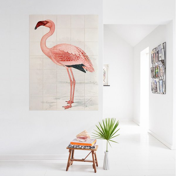 Wanddekoration 'Greater Flamingo'