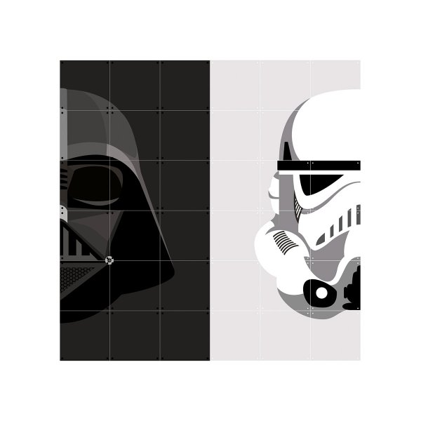 Wanddekoration 'Stormtrooper/Darth Vader', medium