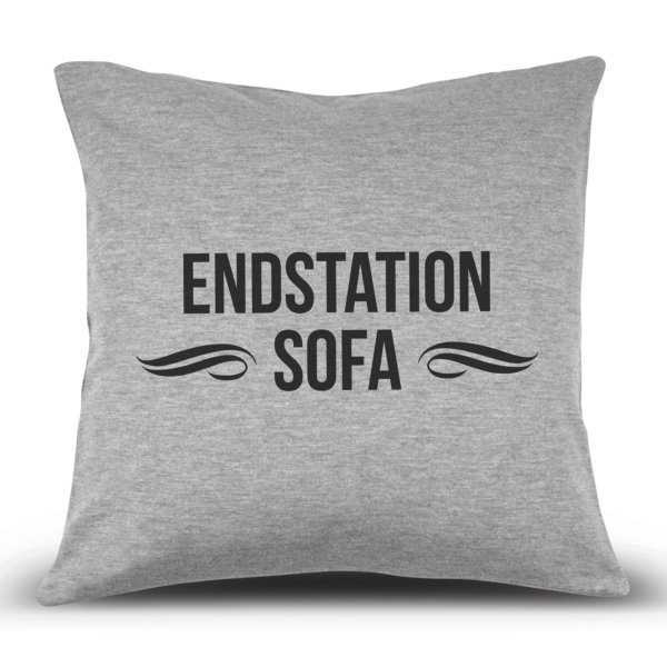 Kissenhülle 'Endstation Sofa'