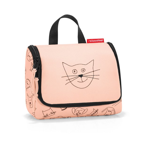 Kulturtasche 'Cats and Dogs' rosa