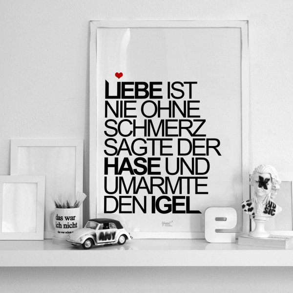 poster typoprint 39 liebe 39 online kaufen. Black Bedroom Furniture Sets. Home Design Ideas