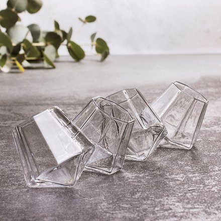 Schnapsglas 'Diamond Shot', 4er Set