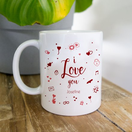 Tasse 'Love you' mit Name