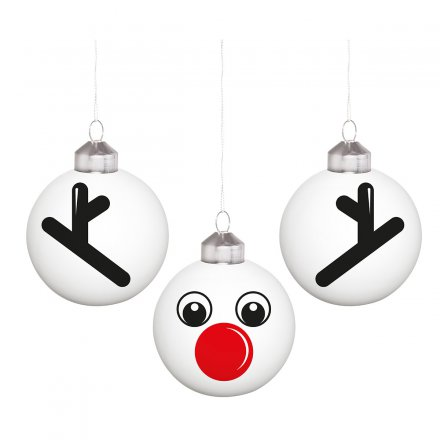 Christbaumkugeln 'Rudolph',  3er-Set