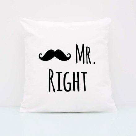 Kissen-Set 'Mr. Right & Mrs. Always Right'