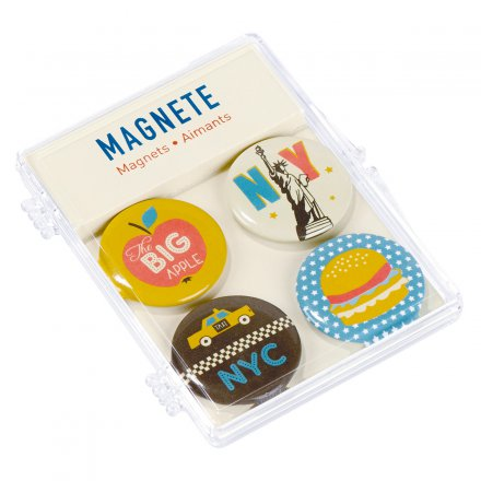 Fernweh-Magnete New York, 4er-Set