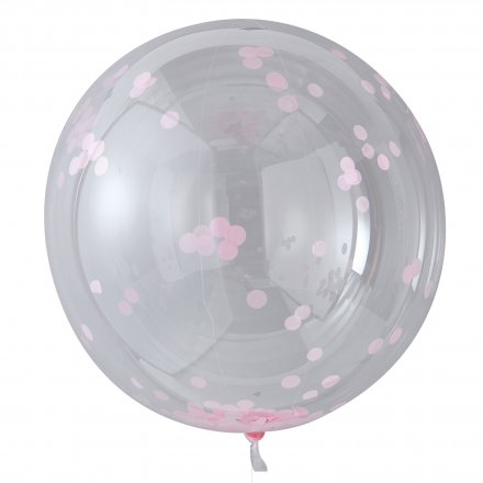 3er-Set XL Konfetti-Ballon 'pink'