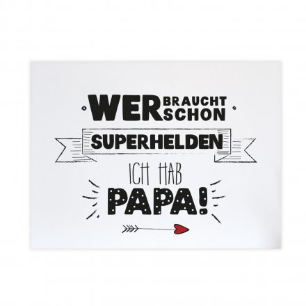Statement-Poster 'Superhelden Papa' in Din A4