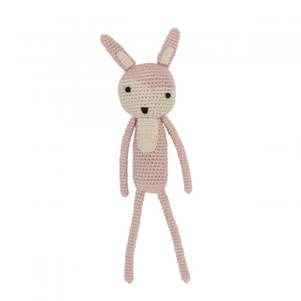 Stofftier Hase in rosa
