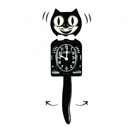 Wanduhr 'Kit-Cat' in schwarz