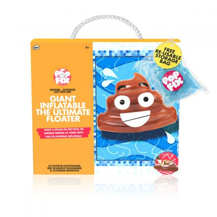 Pop Fix Luftmatratze 'Poop-Emoji'