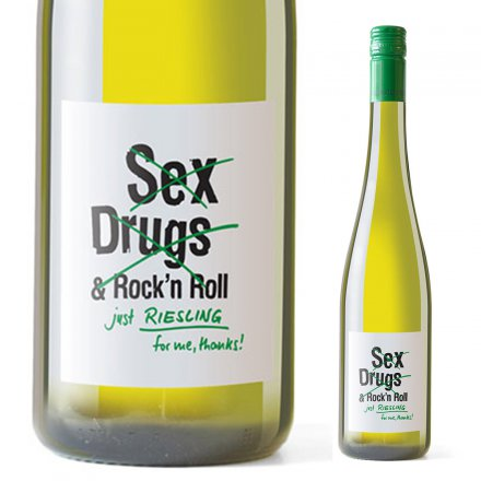 Weißwein Riesling 'No Sex, Drugs & Rock'n Roll'