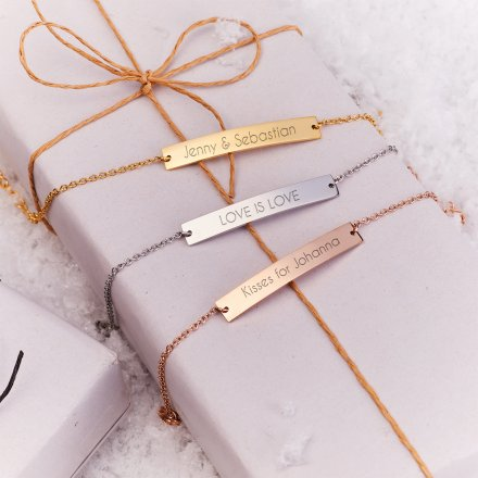 Personalisierbares Armband gold