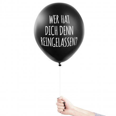 6er Set Anti-Party Ballons 'Depri Disko'